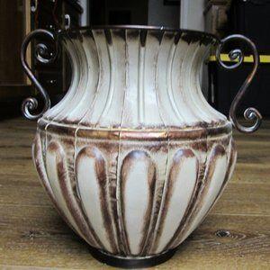 Grecian looking Metal Urn NWT
